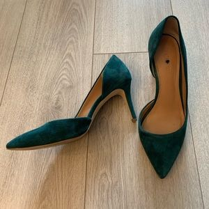 Forest Green Suede J. Crew Pumps